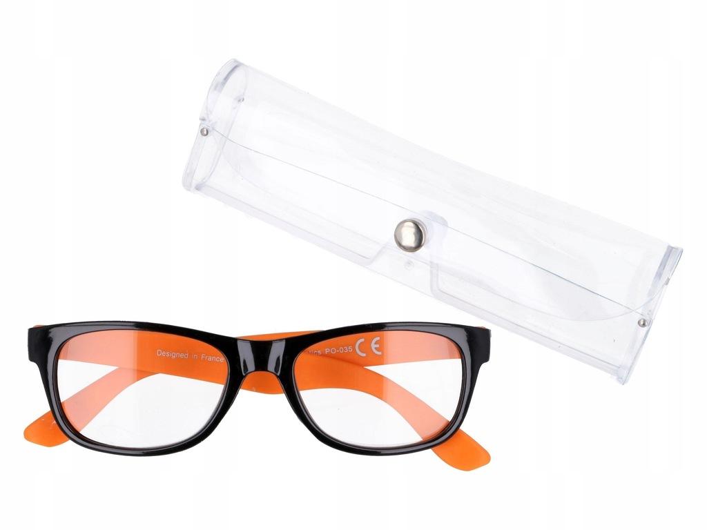 Damskie prostokątne okulary korekcyjne plusy +2.50