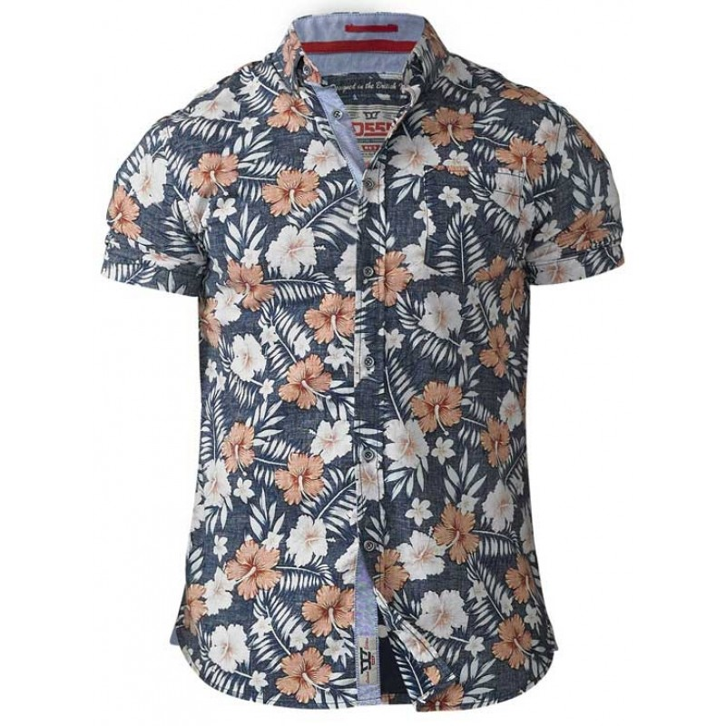 HUXLEY D555 Koszula Hawajska Duże Rozmiary 6XL 7414113978  TW3fr
