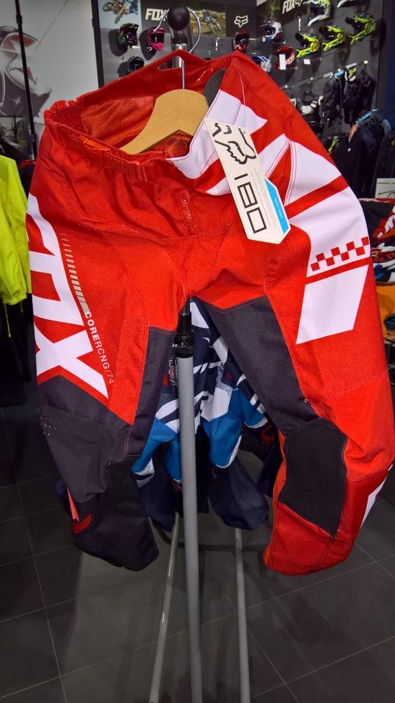 Spodnie Fox 180 Junior Sayak Red roz. Y26