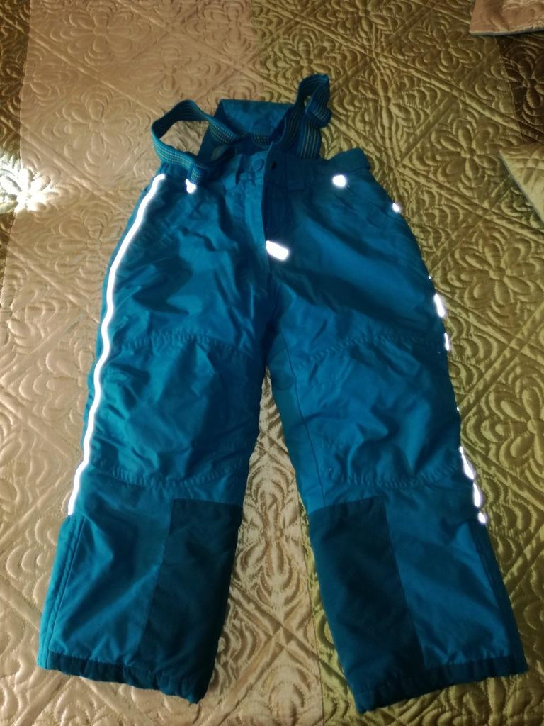spodnie narciarskie, na sanki, 104, turkusowe