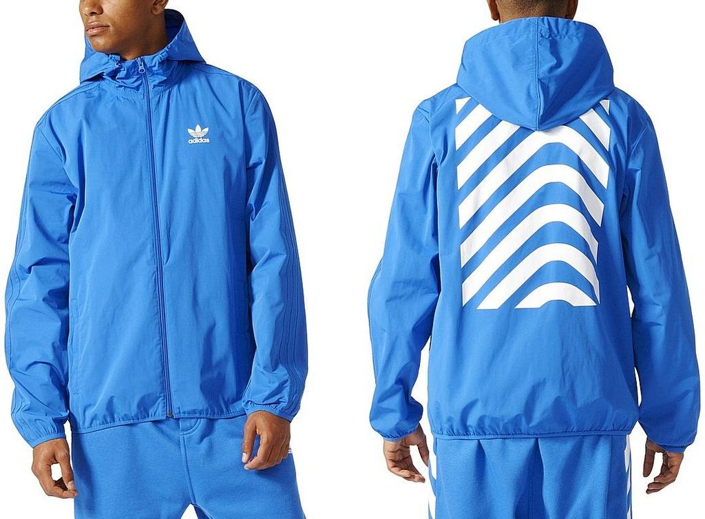 Adidas Kurtka NYC HERRINGBONE (L) Męska Wiatrówka