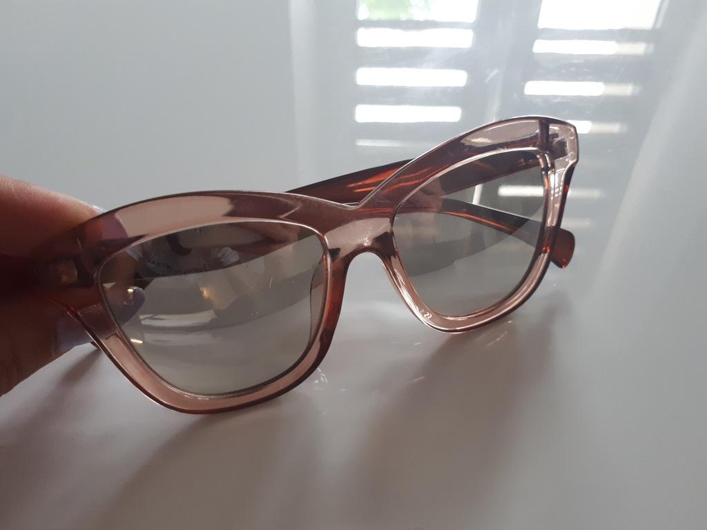 RESERVED okulary KOCIE lusterka ZARA STRADIVARIUS