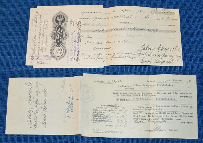 Weksel 01 - Gniezno 4 lipca 1939 na kwotę 250zł