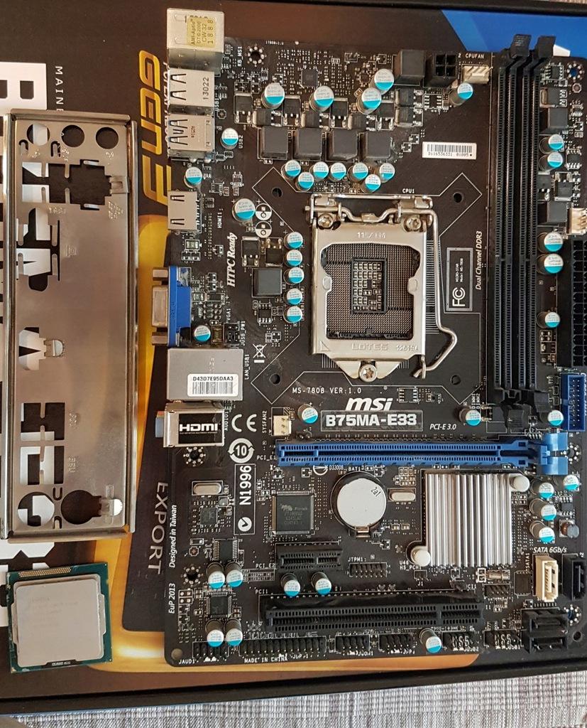 MSI B75MA-E33 Intel B75 s1155 mATX blaszka gw30dni