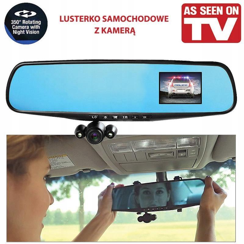 Hd Mirror Cam Wideorejestrator W Lusterku Samochod 7417593595 Oficjalne Archiwum Allegro