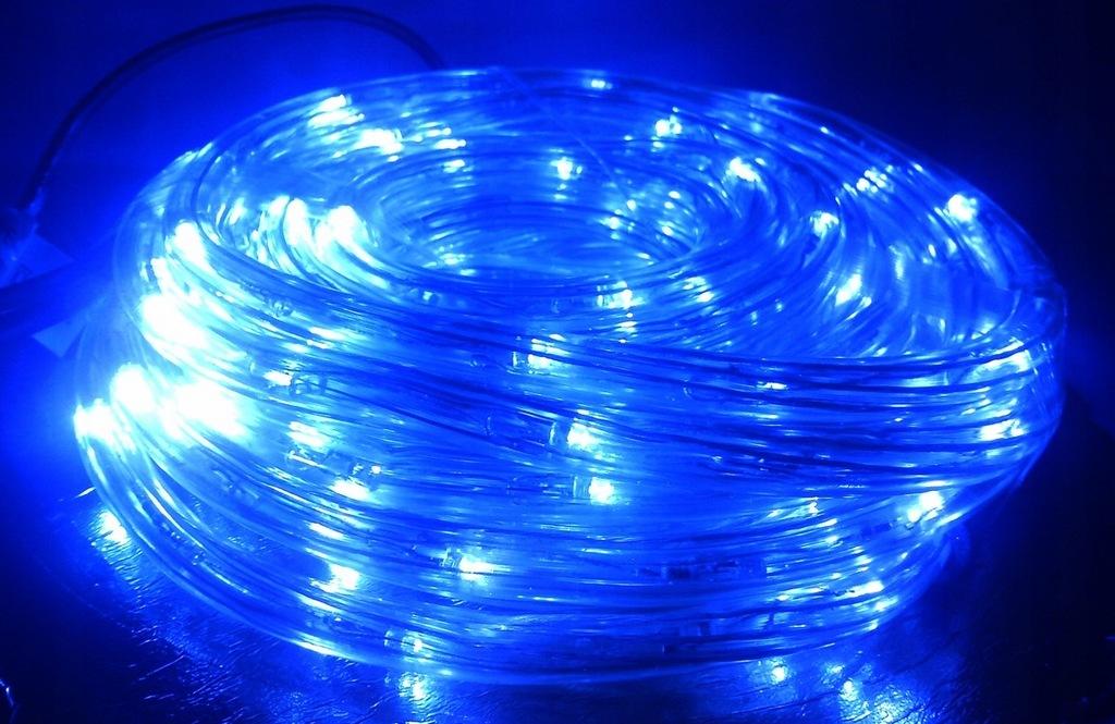 Wąż świetlny 30m Metrów Led Hermetyczny Niebieski 7684947206 Oficjalne Archiwum Allegro