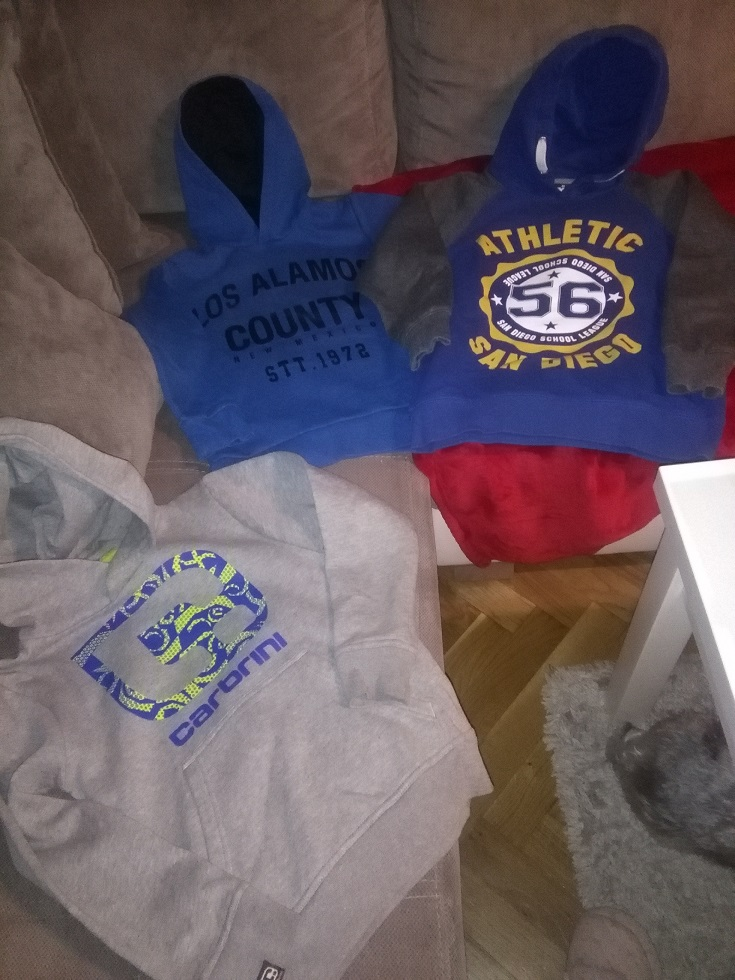 3 śliczne bluzy dla modnego 134-140