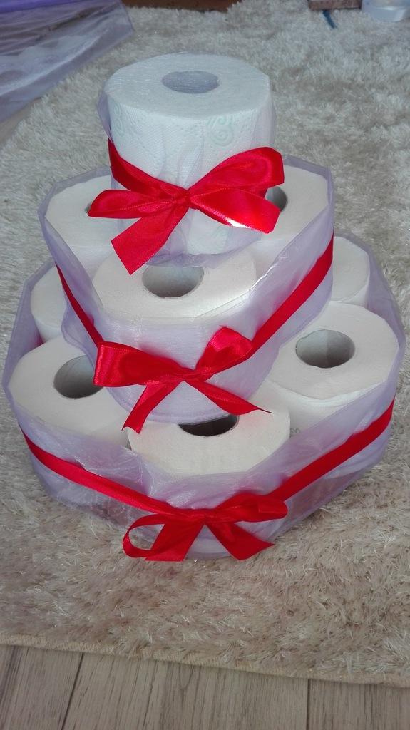 Tort Z Papieru Toaletowego Zabawny Prezent Parapet 7170968864 Oficjalne Archiwum Allegro