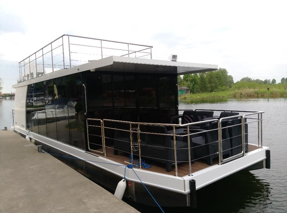 Katamaran Łódź Platforma House Boat Party Boat