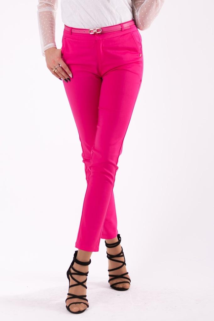 Spodnie 78 eleganckie fuksja L