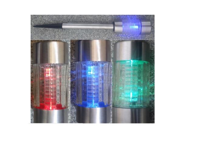 4 lampy solarne led szklane zmieniające kolory