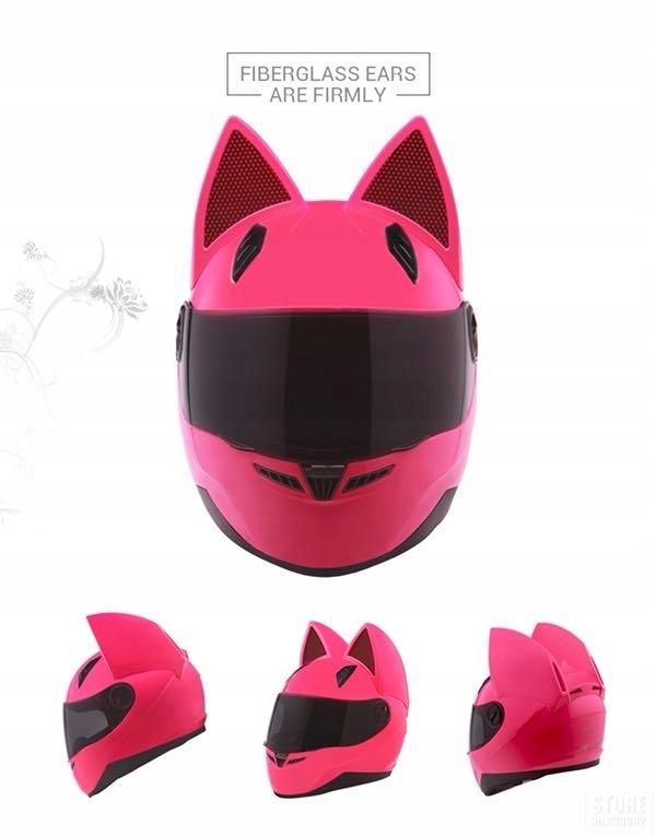 Kask Motocyklowy Cat Look Kot Kobieta Uszy Damski 7546210494 Oficjalne Archiwum Allegro