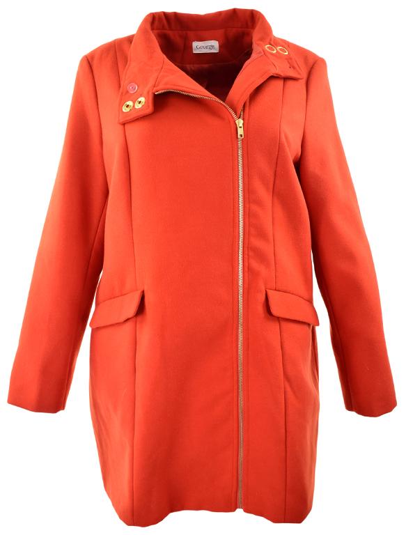 Czerwony płaszcz damski GEORGE rozmiar 46 w Odzież
