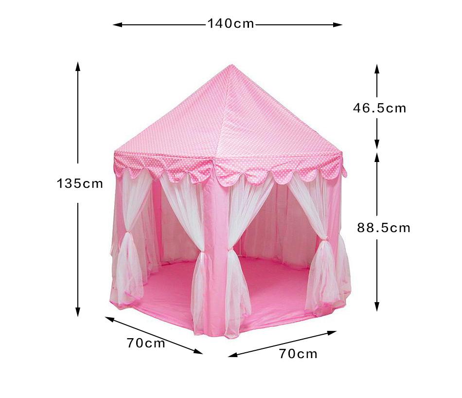 namiot pawilon do ogrodu salonu dla dziecka różowy