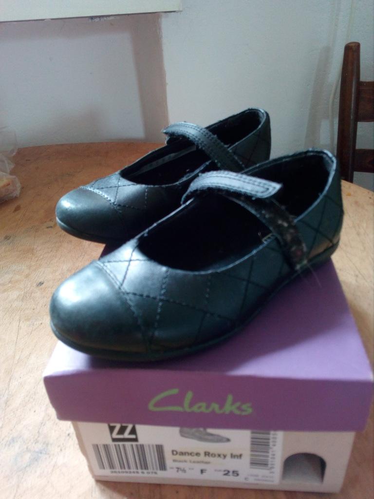 Clarks 25 skóra czarne