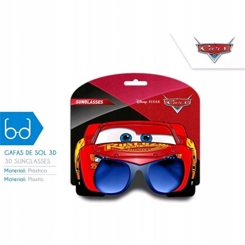 Okulary przeciwsłoneczne 3D Cars Auta 7527222583