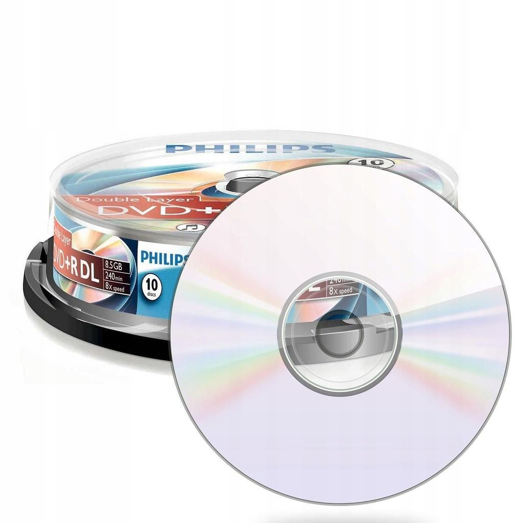 10 płyt DVD+R DL 8.5 GB