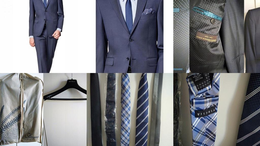 Garnitur VISTULA, 5 krawatów, 5 koszul