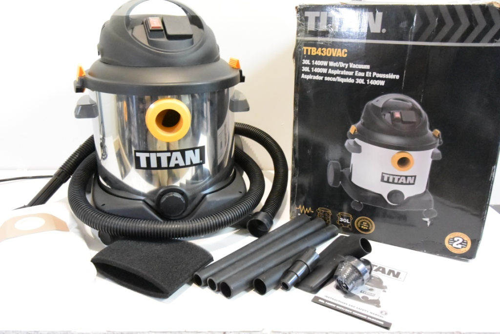 odkurzacz przemysłowy titan 30l ttb430vac k1127