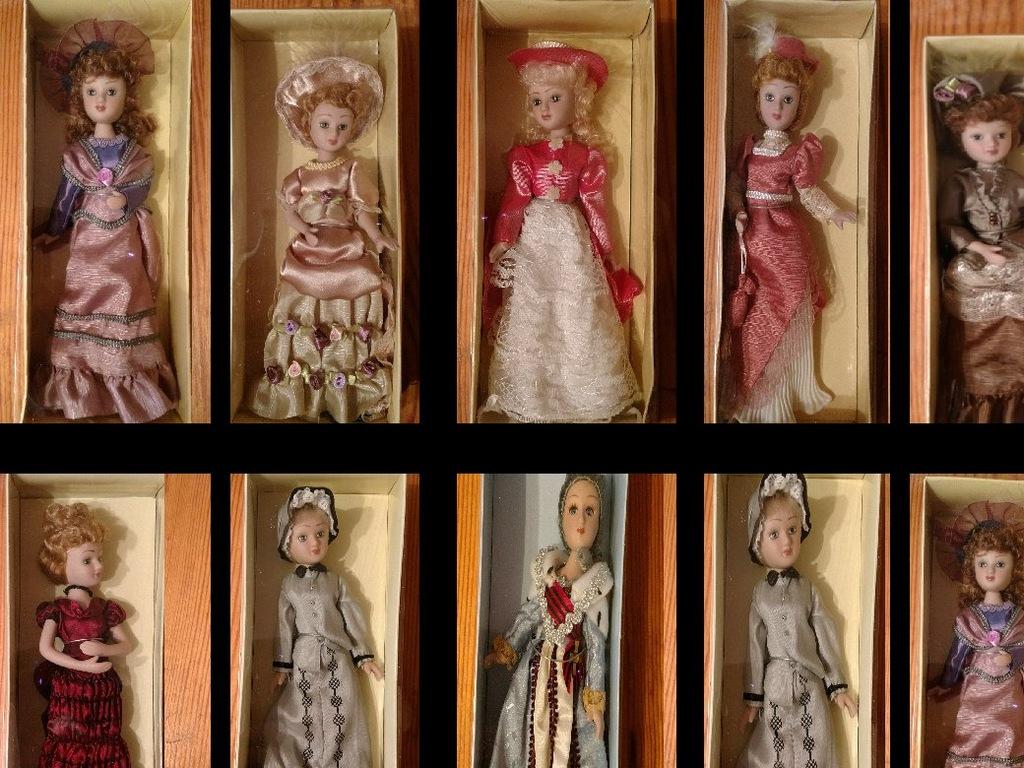 Piekne Nowe Lalki Porcelanowe W Sukniach 7124106502 Oficjalne Archiwum Allegro
