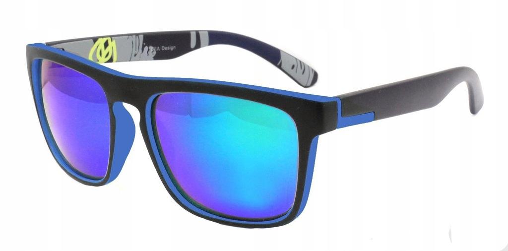 Modne okulary przeciwsłoneczne E08 seledynowe, HIT 2018 roku