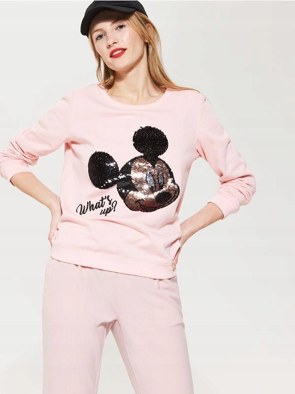 house różowa bluza z myszką mini