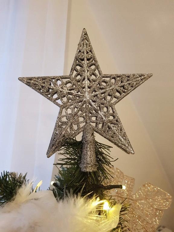 Gwiazda Na Czubek Czubek Na Choinke Azurowa Piekna 7692952176 Oficjalne Archiwum Allegro
