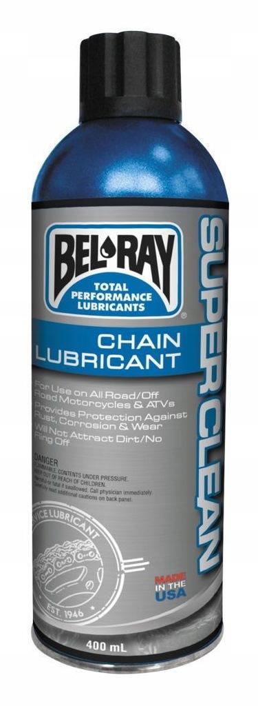 SMAR ŁAŃCUCHA SUPER CLEAN BEL-RAY 400 ml. F.vat