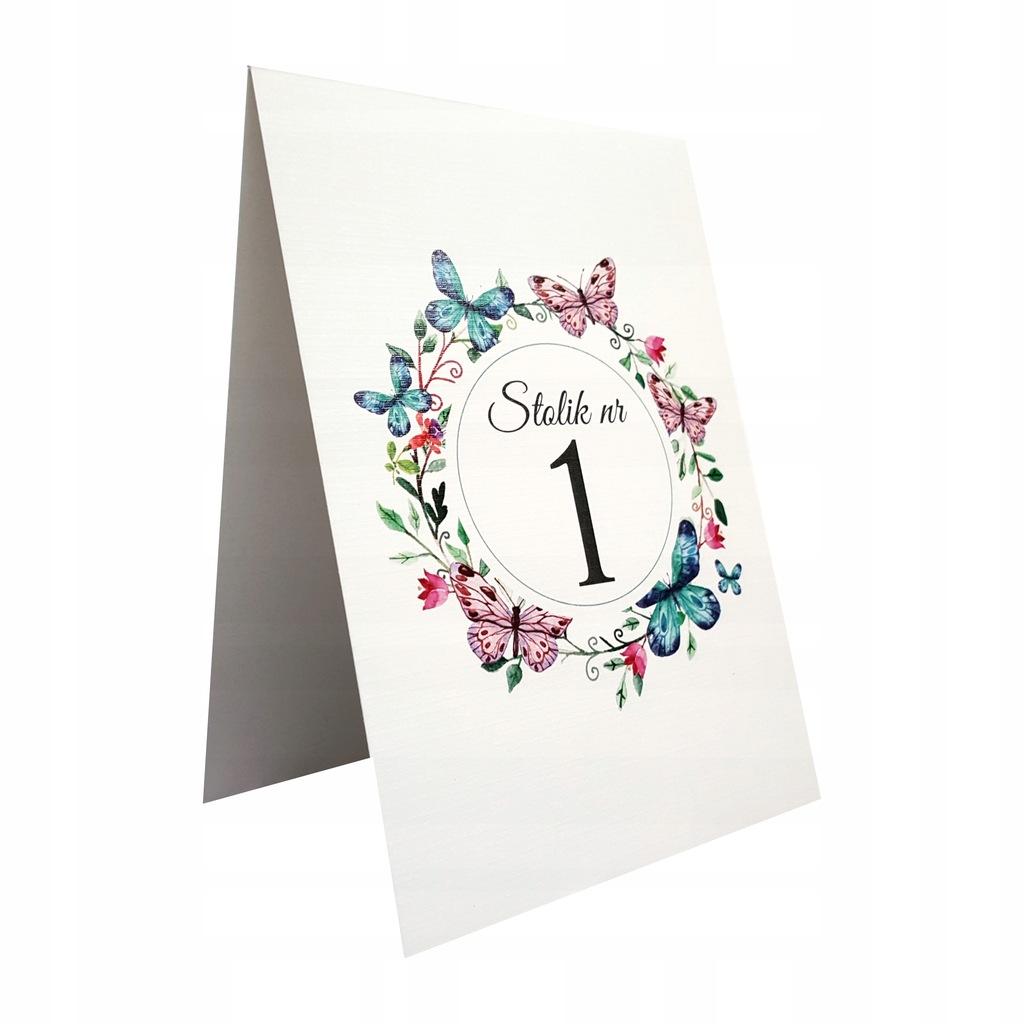 Numer numeracja stołów wesele ślub motyw BOHO