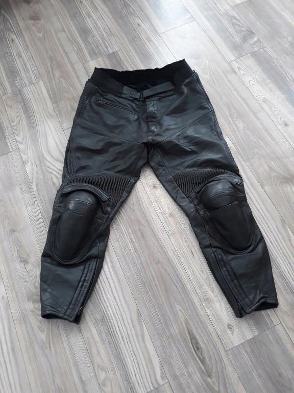 IXS skorzane spodnie motocyklowe motor XXL pas 98