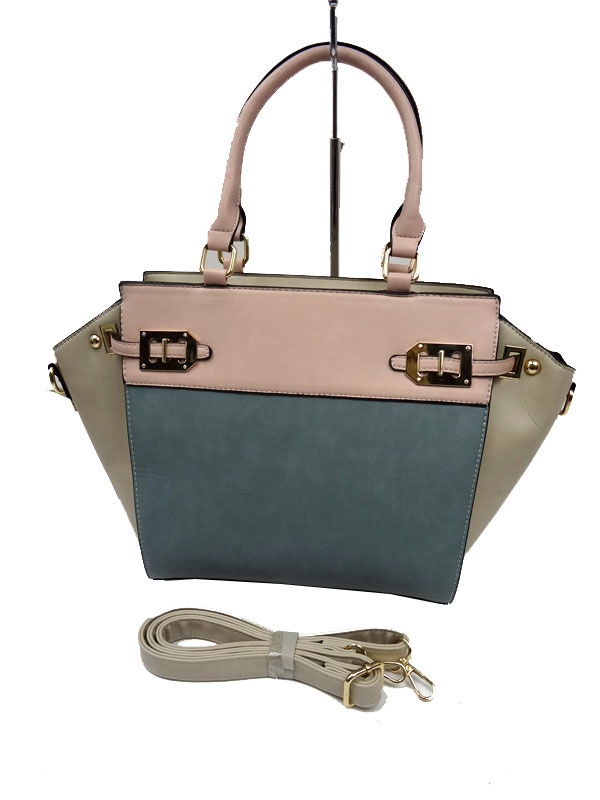 Włoska klasyczna torebka beżowa
