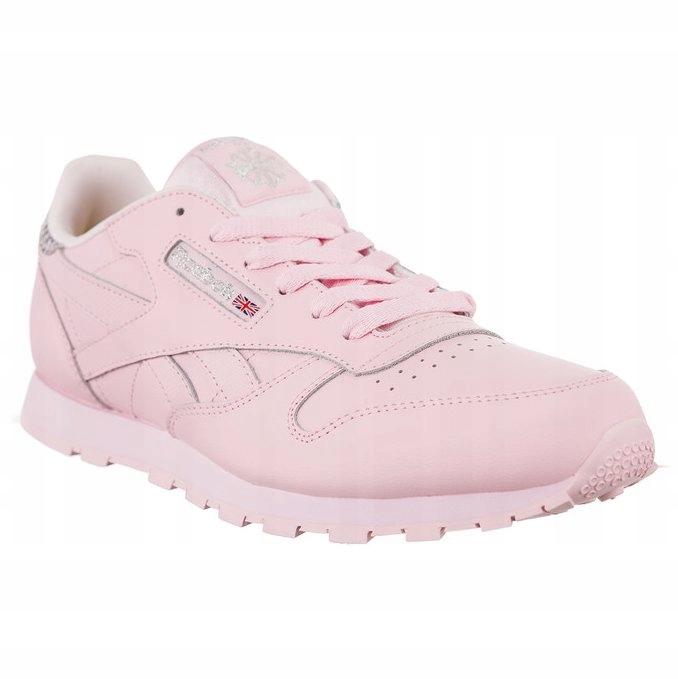 Różowe Skórzane Buty Sportowe Reebok rozmiar 40