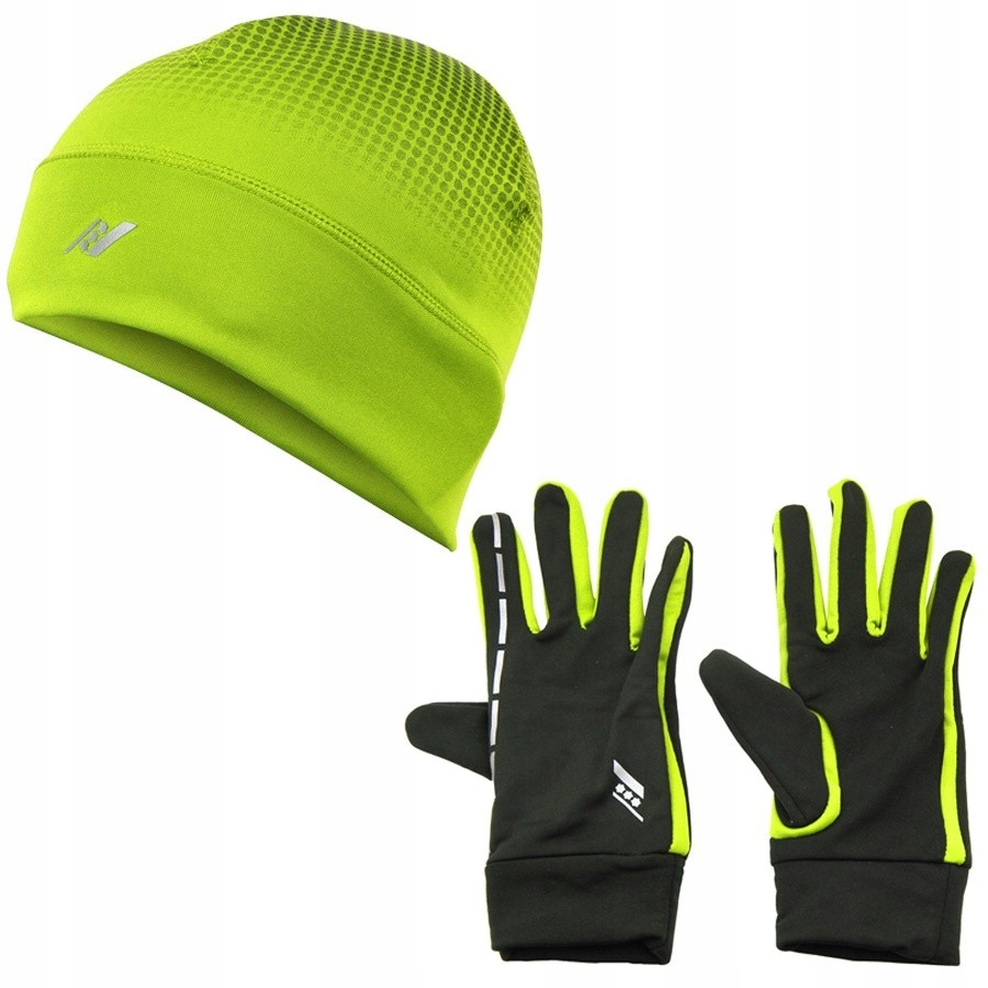 Czapka + rękawiczki Rucanor ŻÓŁTY M/L