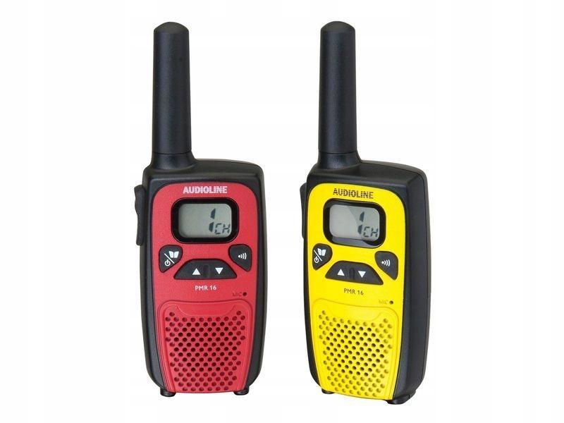 Audioline PMR 16 Walkie Talkie Red / Yellow