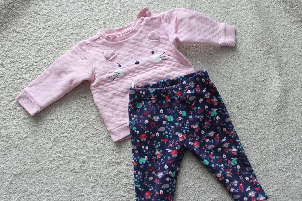 C&A baby club ocieplane legginsy+bluza cudo!