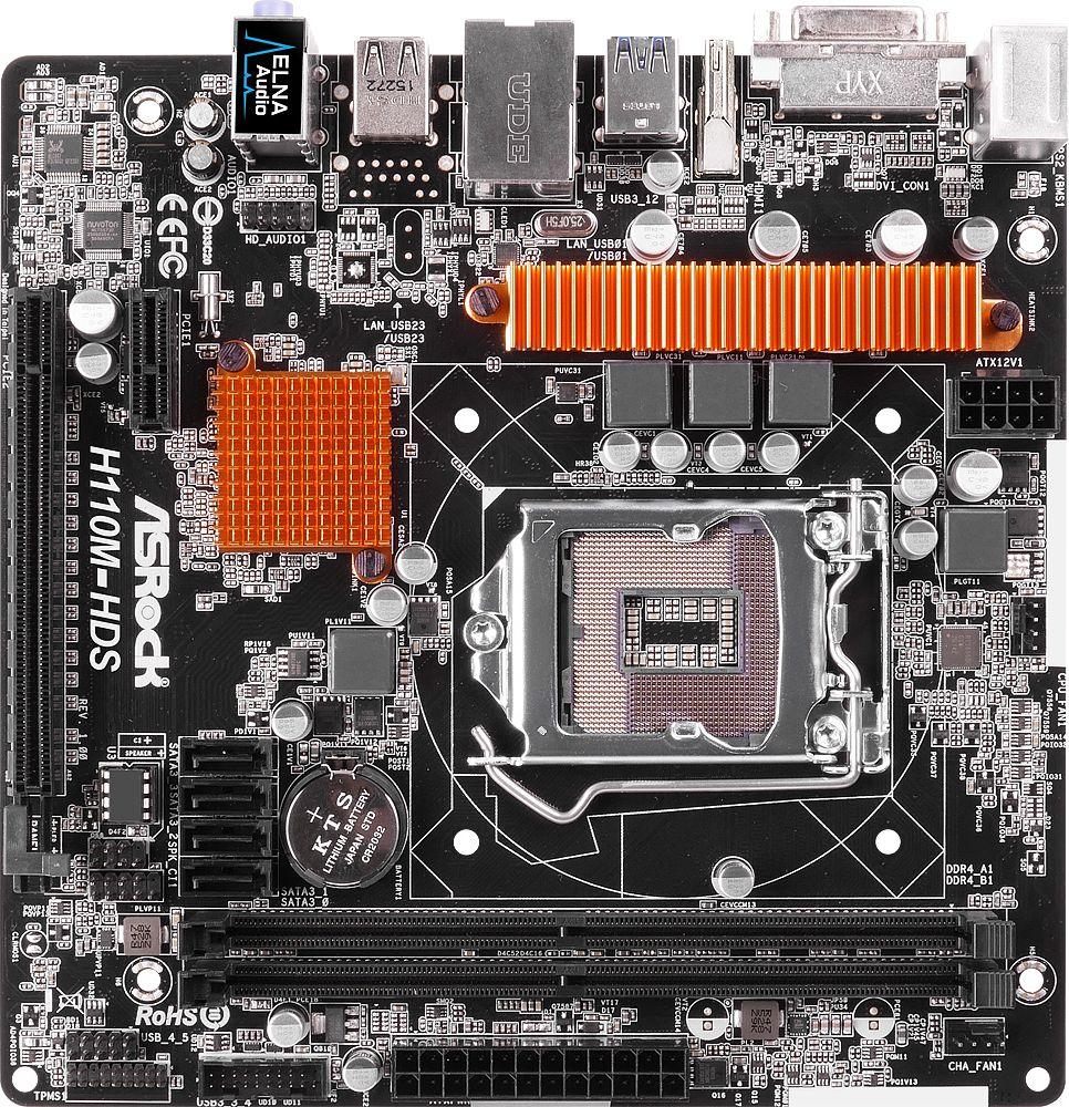 ASRock H110M HDS (90 MXB150 A0UAYZ) w