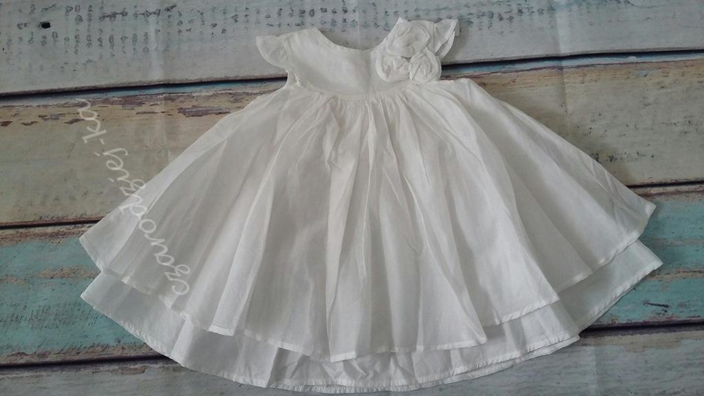 Mothercare piękna sukieneczka 3-6 68 cudo kwiaty