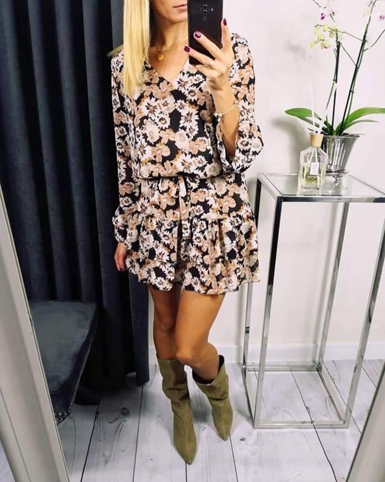 Sukienka w kwiaty xana roz.U must have jesienna