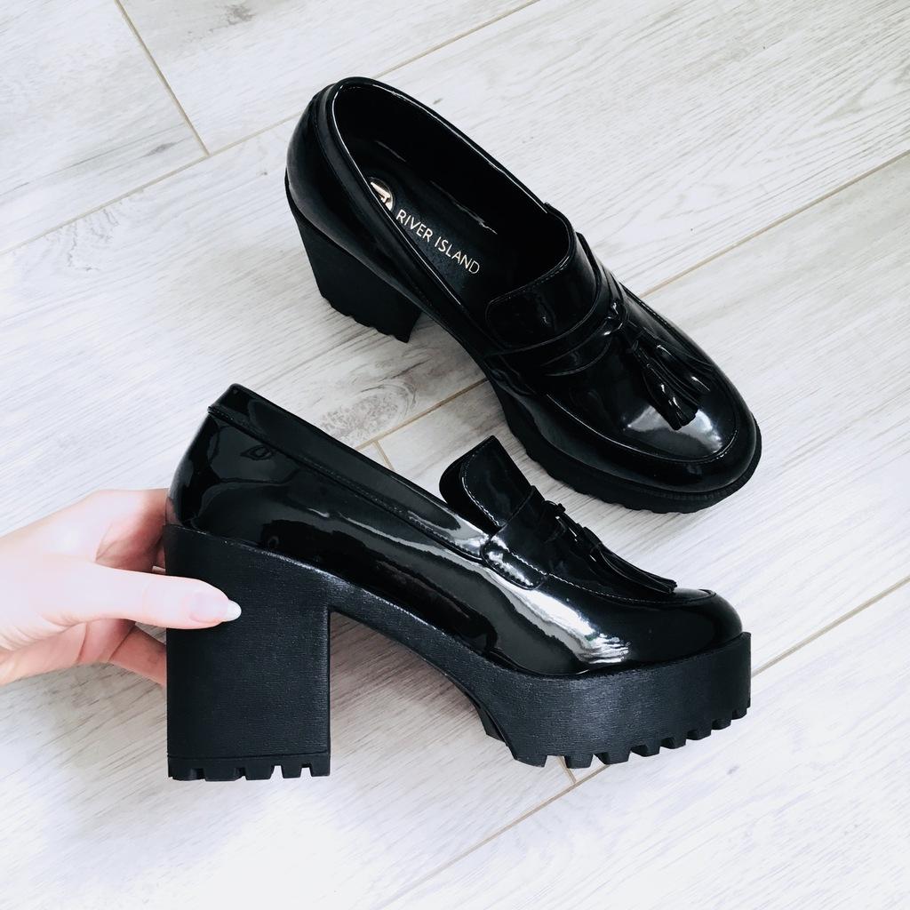 allegro buty damskie mokasyny na slupku