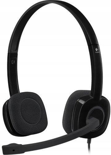 Zestaw słuchawkowy PC Logitech H151czarny Fv23%