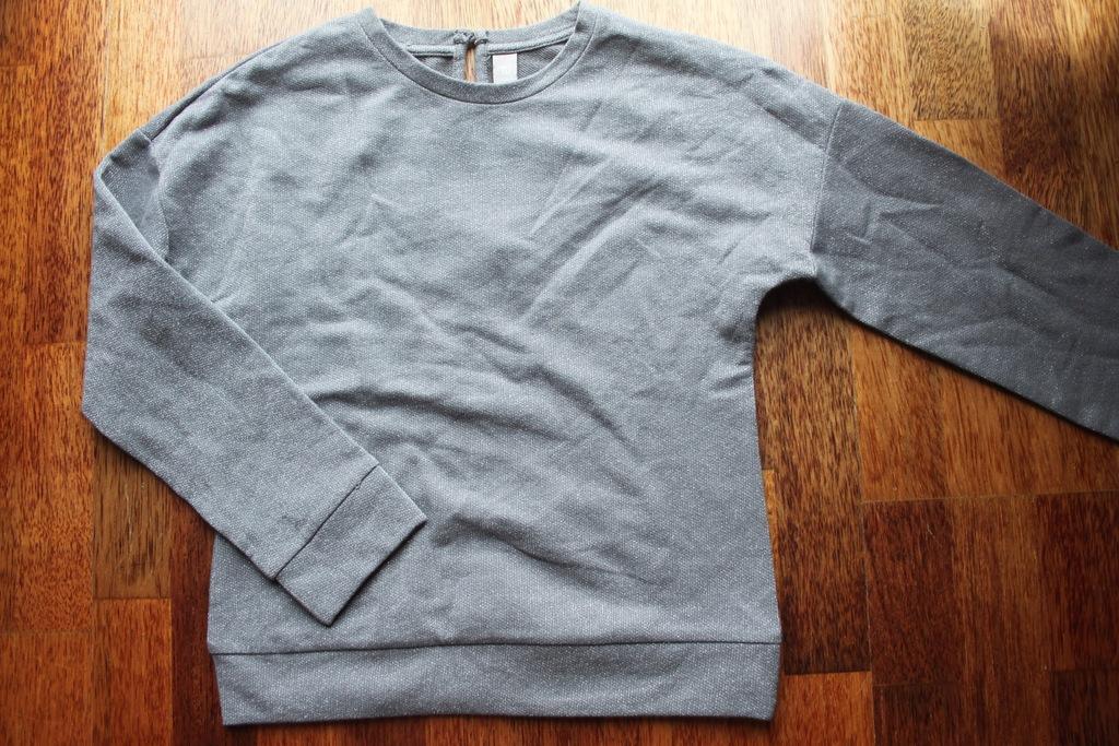 Bluza rozm.152 cm srebrna nitka TU