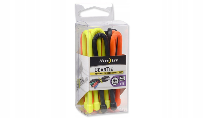 "Nite Ize 24/"" Reusable Rubber Twist Ties 2//Pk Black"