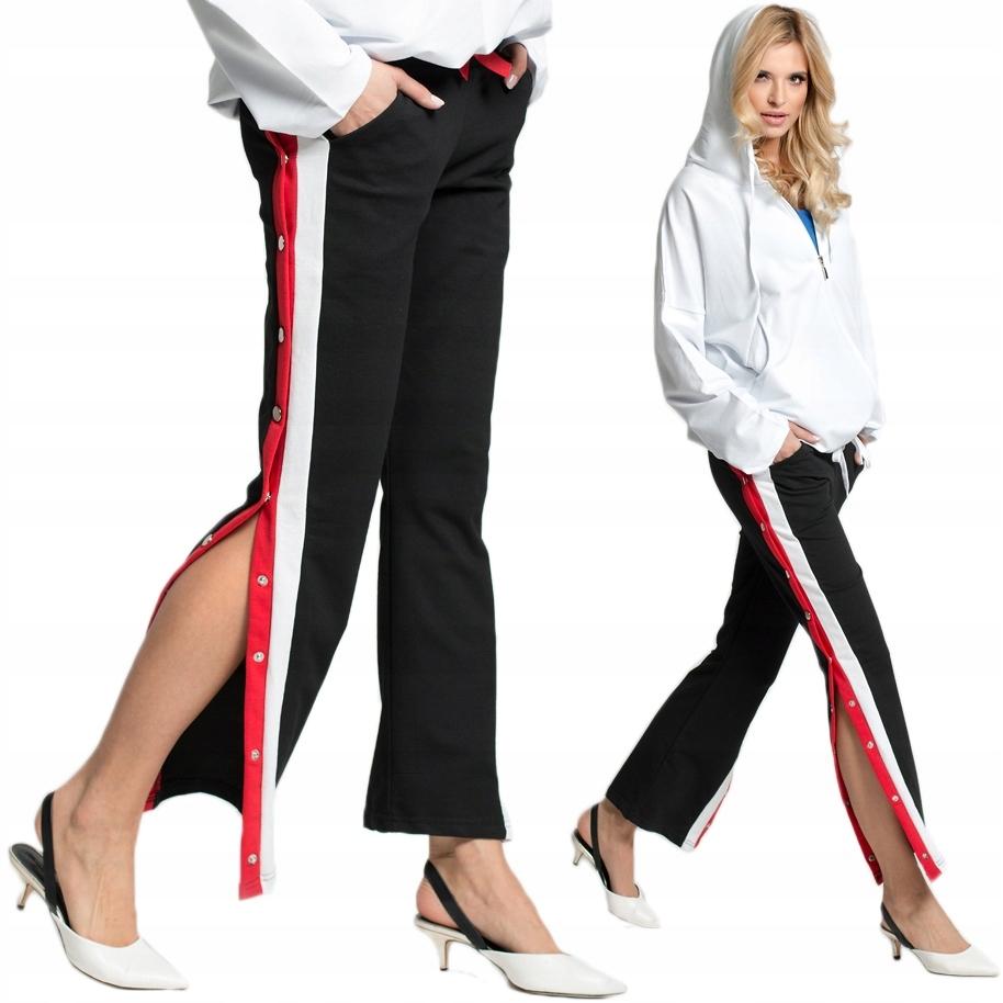 Dresowe spodnie rozpinane nogawki C39 XL
