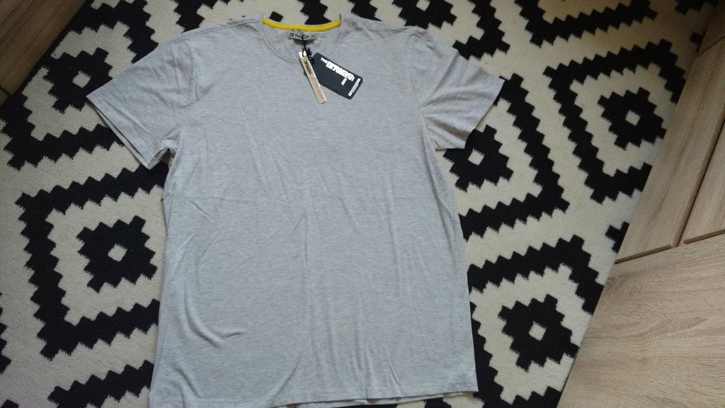 T-shirt szary męski XXL top secret drywash