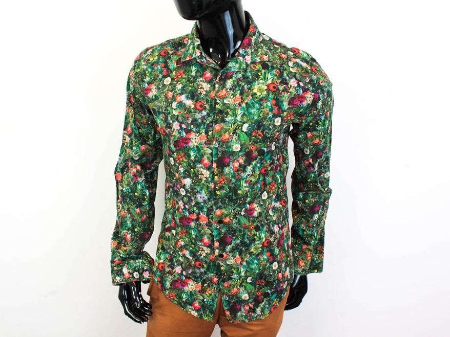 O Zara Man Koszula Męska Taliowana Kwiaty Wzór XL  zBIFN