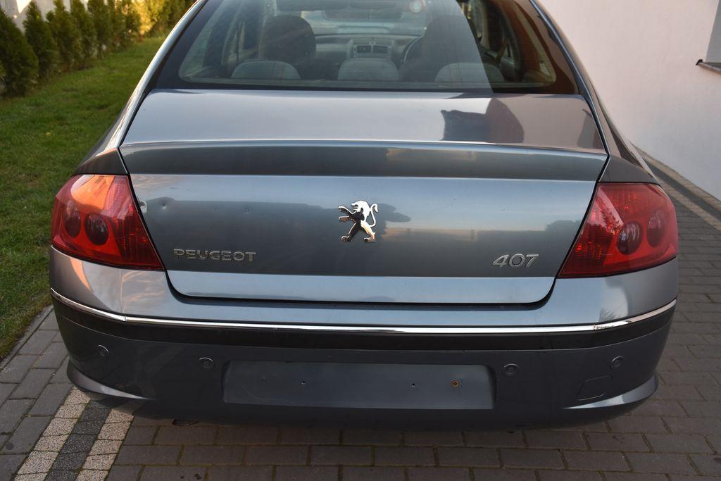 Peugeot 407 Sedan Zderzak Tyl Tylny Ezwd Pdc 7088072621 Oficjalne Archiwum Allegro