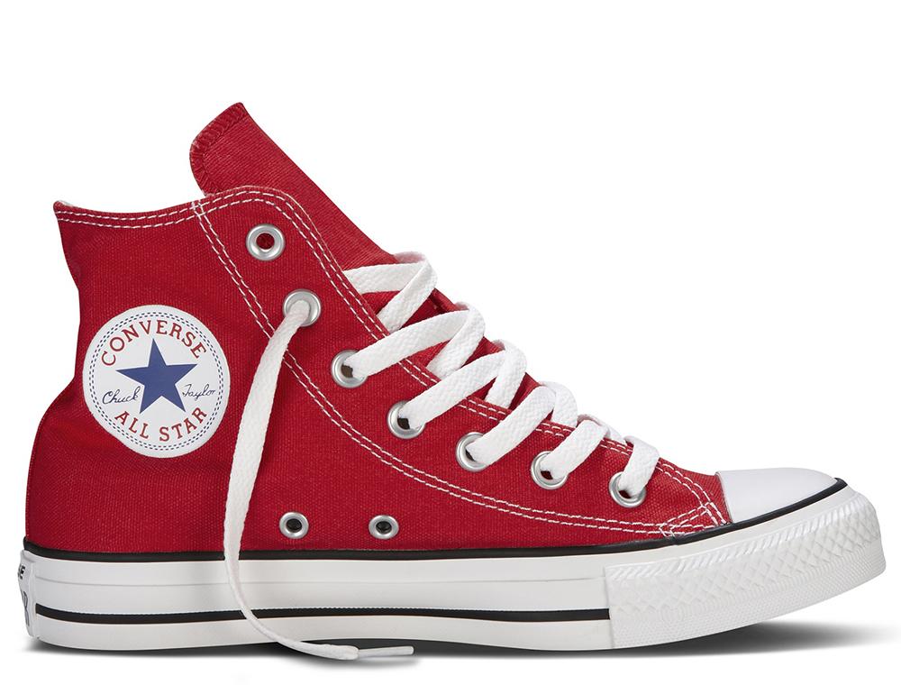 Czerwone Converse Trampki Converse Wysokie MęskieDamskie