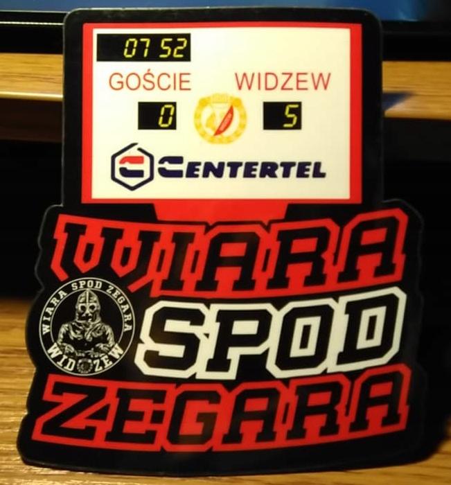 Magnes Wiara Spod Zegara Zegar 13 15 5 Widzew Lodz 7681759582 Oficjalne Archiwum Allegro