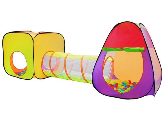 Namiot dla dzieci IGLO + tunel + 200szt piłek 5902367976231