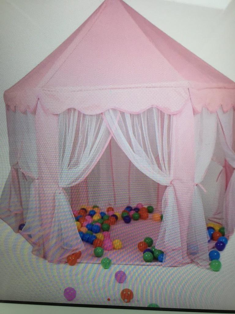 Namiot pawilon moskitiery dla dziecka różowy duż